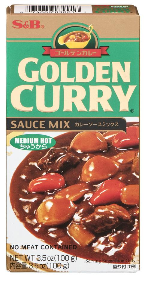 Curry Roux packaging - S&B Brand